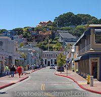 Shopping in Tiburon, California, before lunch overlooking the Bay
