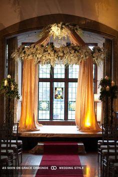 unique wedding chuppah ceremony decor by a votre services