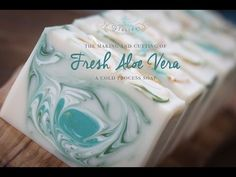 The Making and Cutting of Fresh Aloe Vera Cold Process Soap - YouTube