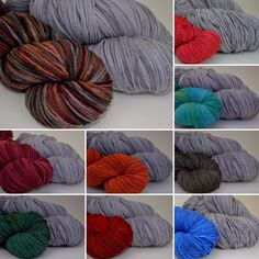 Vortex paired with, clockwise from top left: Spice Road, Neon Poppies, Malachite, Chimney Swift, Celestial, Chipotle, Entling, Vendange, Dance the Orange
