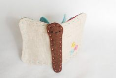 Butterfly Needle Book by wildolive, via Flickr Wild Olive, Felt Birds, Needle Book, Presents For Friends, Sewing Kit, Some Ideas, Handmade Crafts, Fiber Art, Embroidery Patterns