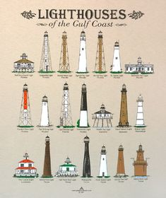 Lighthouses of the Gulf Coast T-Shirt Lighthouse Drawing, Lighthouse Photos, Lighthouse Art, Pensacola Lighthouse, Dazzle Camouflage, State Of Florida, Light House, Vintage Travel Posters, Nantucket