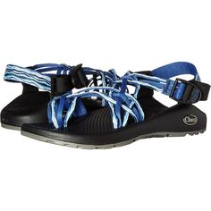 Chaco ZX/3 Classic (Sand Dune Blue) Women's Sandals ($85) ❤ liked on Polyvore featuring shoes, sandals, blue, wrap around sandals, arch support shoes, blue platform shoes, blue shoes and buckle platform sandals