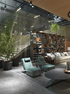 FLEXFORM   A.B.C.D. armchair. Furniture Showroom, Modern Furniture, Rest Area, Poufs, Armchairs, Luxury Homes, Living Rooms, Stairs, Patio