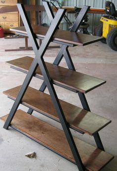steel furniture Custom Made Contemporary Bookshelf