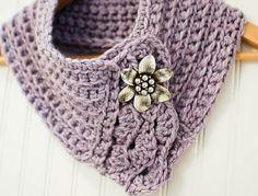 Pretty cowl/scarflette on the LoveCrochet blog