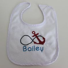 Anchor Infinity Personalized Baby Bib