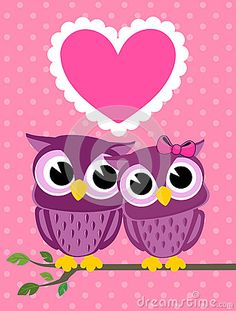 Cute Owl Wallpapers Cute-love-birds-owls-greeting- ...