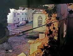Falklands war, Police station damage Falklands War, Major General, Police Station, Painting, Painting Art, Paintings, Painted Canvas, Drawings