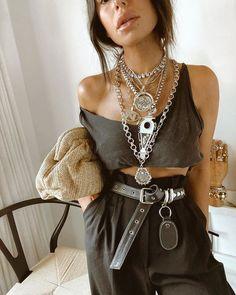 Edgy Chic, Boho Chic, Look Fashion, Fashion Outfits, Womens Fashion, Estilo Dark, Looks Style, My Style, Streetwear Fashion