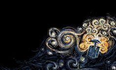 TARDIS Wallpaper Van Gogh Style. by ~Nayu-Nyun on deviantART