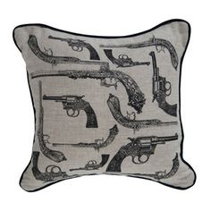 Pistols 18x18 Black Oatmeal now featured on Fab.