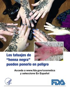 Los tatuajes temporales pueden poner su salud en riesgo