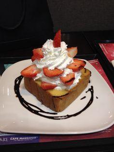 Strawberry honey bread at MangoSix