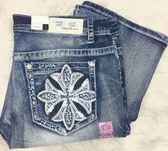 GRACE IN L.A GLITZY CRESTED CROSS PLUS SIZE STRAIGHT JEANS