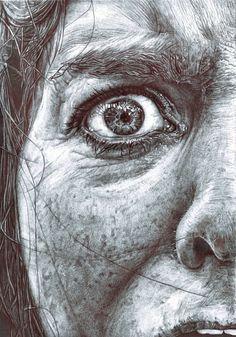 #biro #drawing #portrait #art by Ruth Bilham