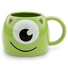 Disney Monsters Inc Mike Wazowski Monster Coffee Tea Mug Cup Glass Disney Monsters, Disney Pixar, Disney Nerd, Disney Tassen, Crackpot Café, Tassen Design, Mike From Monsters Inc, Disney Cups, Mike Wazowski