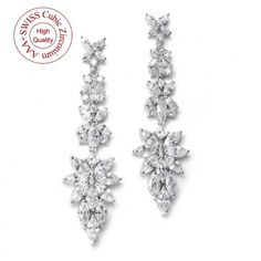 Boucles d'oreilles mariage chandelier Nuptial - ODAZZ Mariage