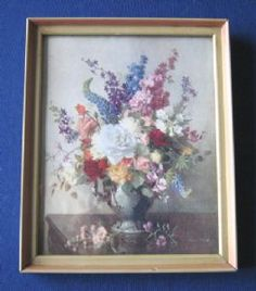 Yes, I do like Vernon Ward. I don't have this one, but I am keeping my eyes peeled. Vintage Wall Art, Vintage Books, Vintage Prints, Vintage Floral, Vernon, Wall Art Prints, Delphiniums, Retro, Tudor