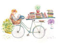 Descanso: naturaleza y lectura (ilustración de Judith Chamizo)