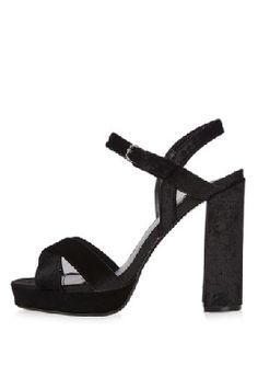 Topshop MAJOR Cross Strap Velvet Sandals $52, available here: rstyle.me/~9hiok