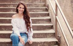 Simple senior girl posing