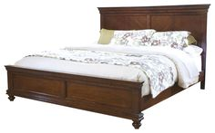 Standard Furniture Essex Panel Bed in Rich Dark Merlot - King traditional-panel-beds
