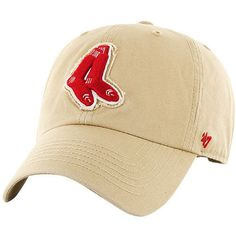 1fa84a034 Men's '47 Khaki Boston #RedSox Wright Clean Up Adjustable Hat from $23.99  Ball Caps