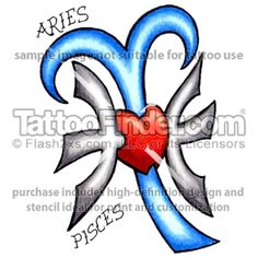 piceses aries tattoo - Google Search