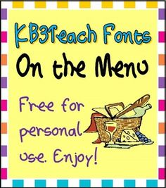 """Free for personal use.  (Note: If you purchased the KB3 Fonts Mega Pack, you are entitled to use this font in your commercial products at no additional charge.)  Created by KB3Teach.  Enjoy!  Design Tips:  1) Use """"Word Art"""" (MS Office/Insert/Word Art) to change the weight of the line (Format/Shape Outline/Weight) and create a """"lighter"""" or """"heavier"""" effect;  2)  Use shadows and text layering to give the font a 3D look for your classroom worksheets."""