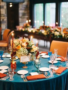 Teal, gold + orange | Photography: Sean Cook Weddings