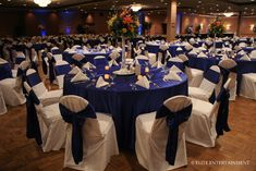 bridal style and wedding ideas: Glamour Wedding With Perfect Royal Blue Centerpieces/ reception decor & more! Blue Wedding Receptions, Wedding Themes, Wedding Table, Wedding Colors, Wedding Decorations, Wedding Ideas, Reception Table, Wedding Centerpieces, Quinceanera Decorations