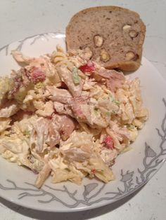 kyllingsalat Bacon, Dairy, Cheese, Food, Essen, Meals, Yemek, Pork Belly, Eten