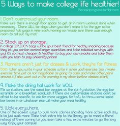 5 ways to make your college life healthier