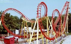 Boomerang at Worlds of Fun. Awesome ride! Husband didn't like it so much though.