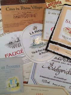 Vintage French labels  FleaingFrance Brocante