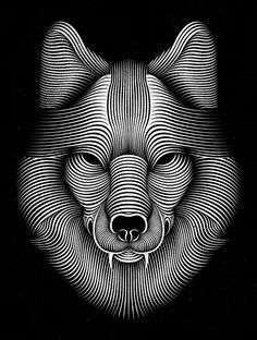 Digital Illustrations by Patrick Seymour  I enjoy the repetitive lines in this illustration and how well they all work together to bring the image together