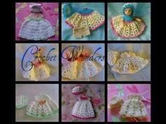 Free Doll Crochet Thread Dress Gown Pattern for Berenguer La NewBorn 14 inch Micro Preemie Baby OOAK Reborn Doll
