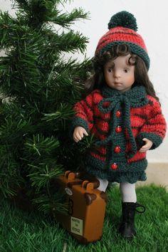 La décision de Clémence tuto manteau, bonnet et jupe pour poupée Minouche.