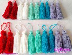 Borlas de hilo y lana largas en muchos colores para todo tipo de decoración My Violet myvioletdesigns.com