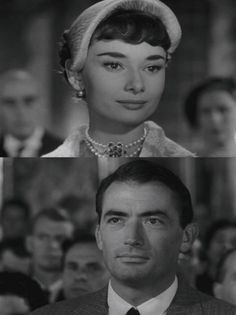 Audrey Hepburn and Gregory Peck in possibly my favourite scene from Roman Holiday (1953)