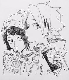 Boku no Hero Academia || Kyouka Jirou, Kaminari Denki.