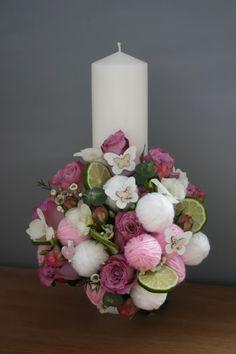 Flowers of Soul: Lumanari de botez