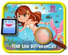 Free Kids 12 Piece Online Jigsaw Puzzles for Kids - 12 Piece Puzzles for Tablets & Mobile Devices - Page 1 Play Online, Kids Online, Find The Differences Games, Jigsaw Puzzles For Kids, Games For Kids, Kids Playing, Mermaid, Activities, Disney Characters