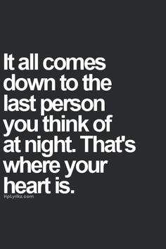 the person you think of at night...