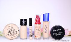 Drugstore Foundation, Powder and Concealer. Foundation and Make Up for Pale Skin.