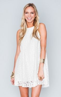 Ritzy Dress ~ Sparkle Lace White