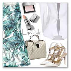 """""""Work Wear :: Back Stitch Printed A-Line Dress"""" by jecakns ❤ liked on Polyvore featuring Burberry"""