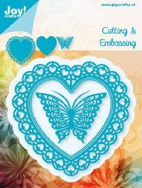6002/0381 Blauwe mal Open hart + vlinder