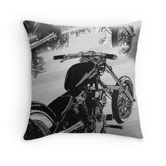 motorbike dreams throw pillow